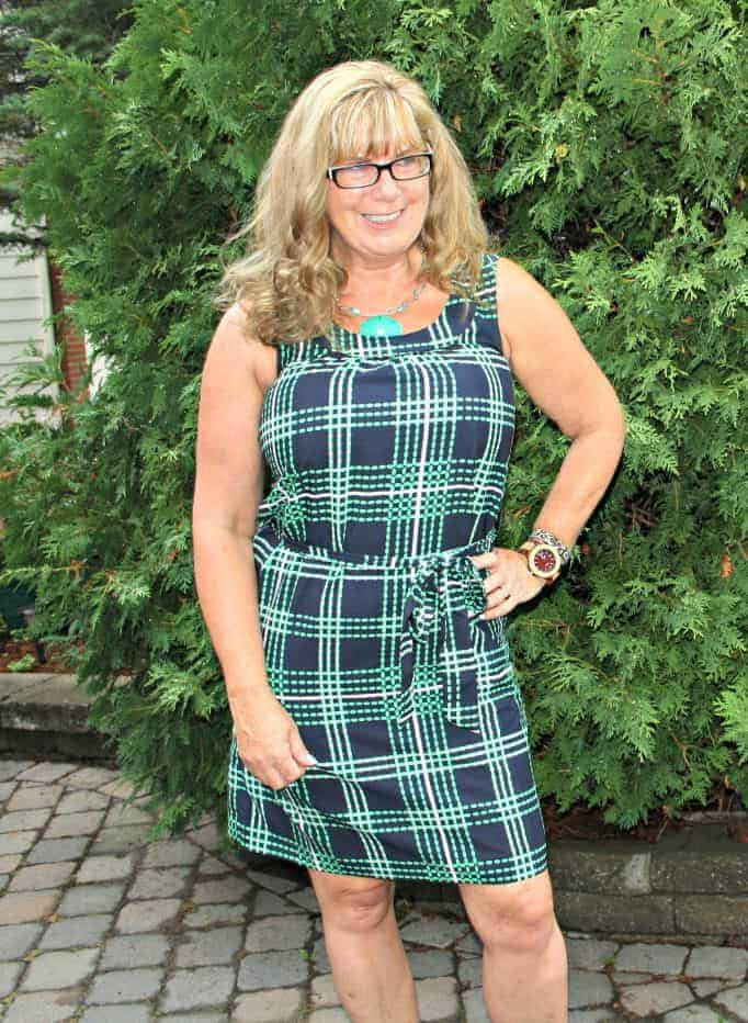 Jord watch and BR plaid dress