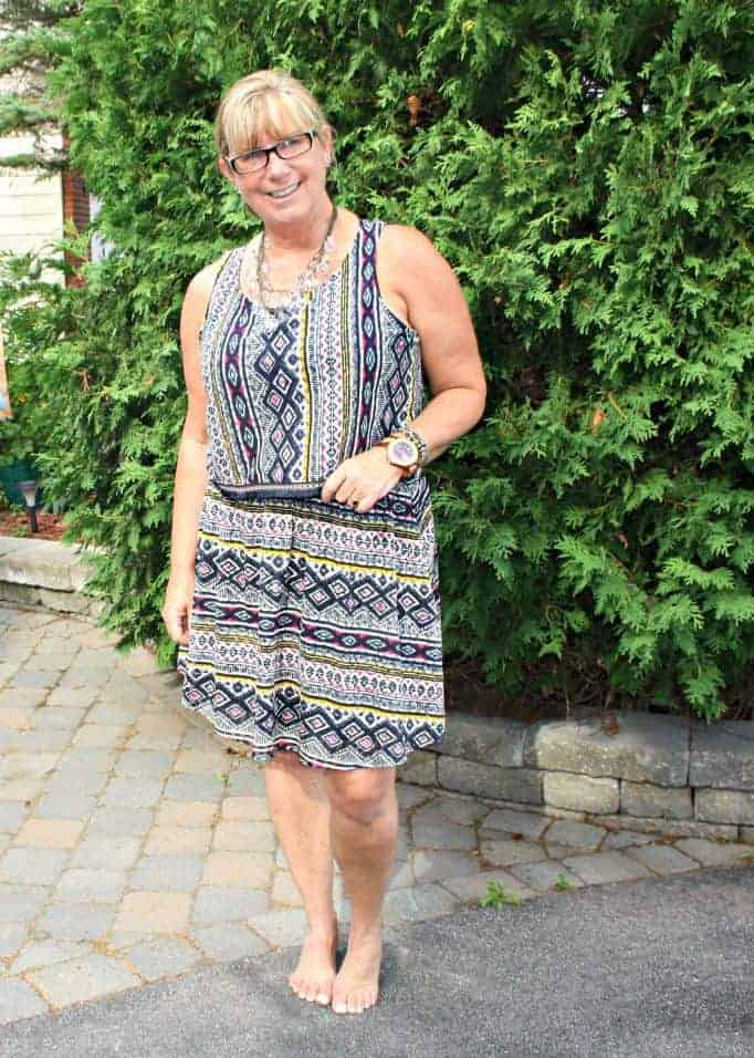 tribal skirt and top from target with jord watch