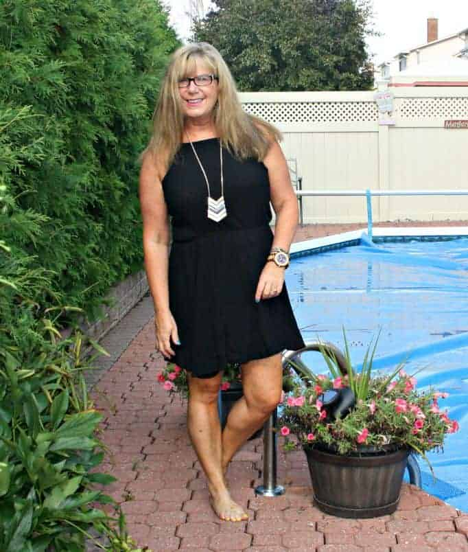 poolside in Forever 21  chiffon dress,
