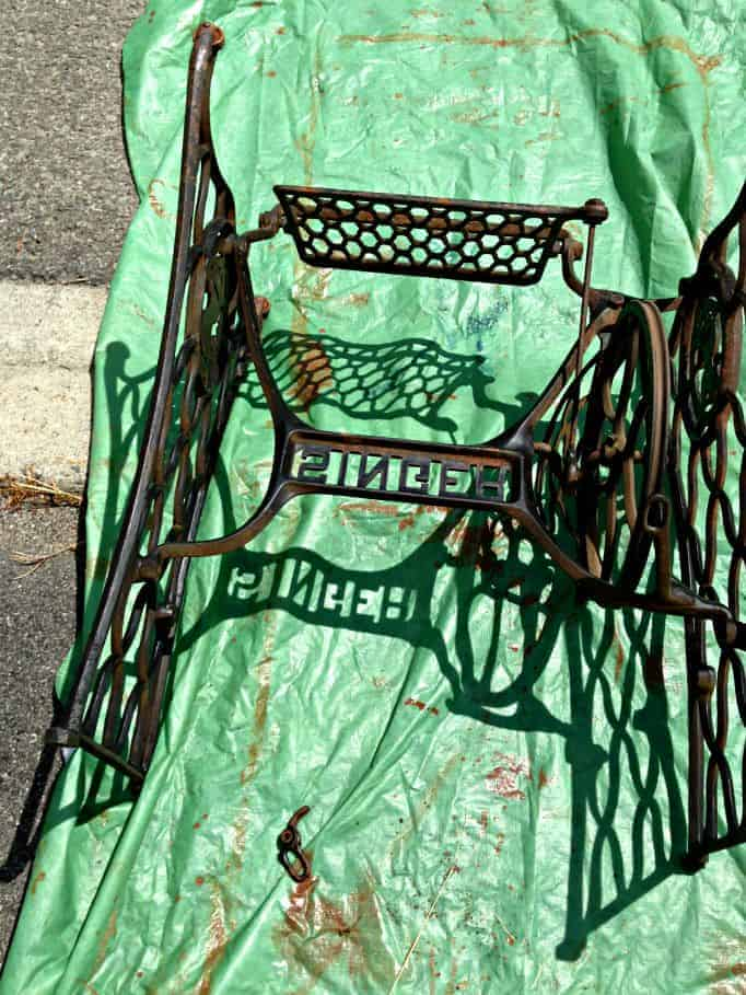 singer sewing machine frame