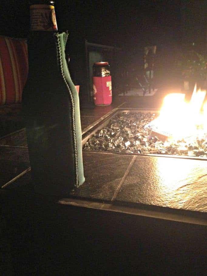 fireside in the backyard