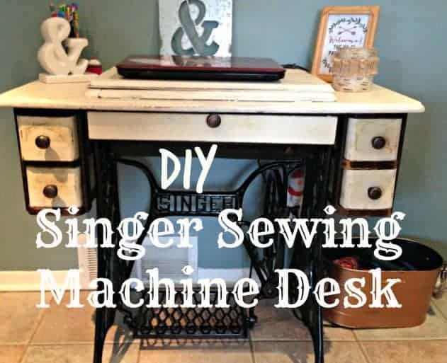 DIY singer sewing machine desk
