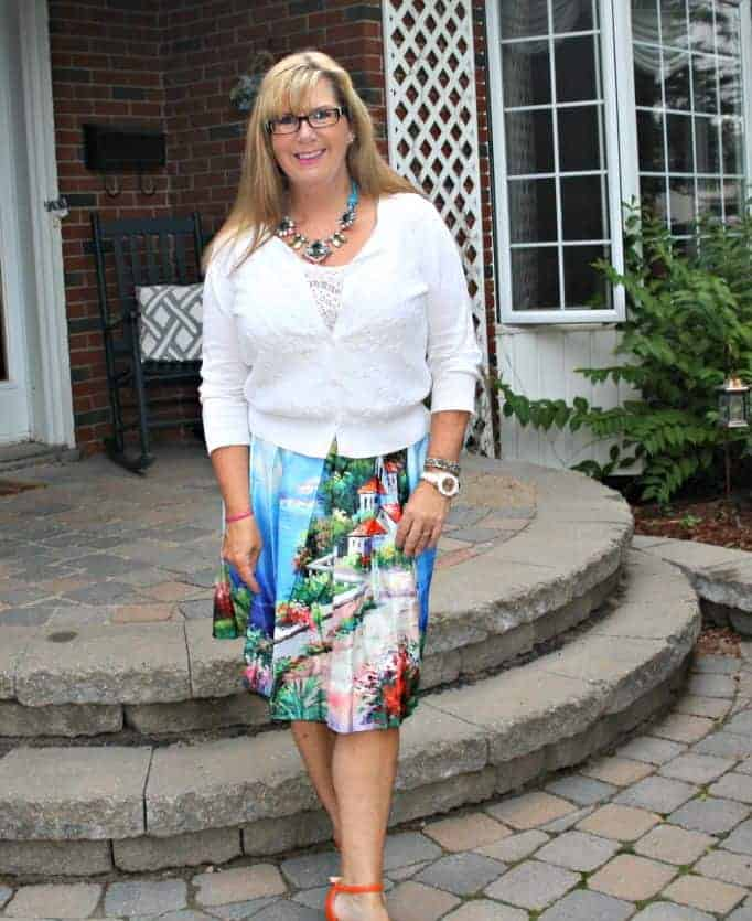 Shein Skirt and Vanheusen cardi