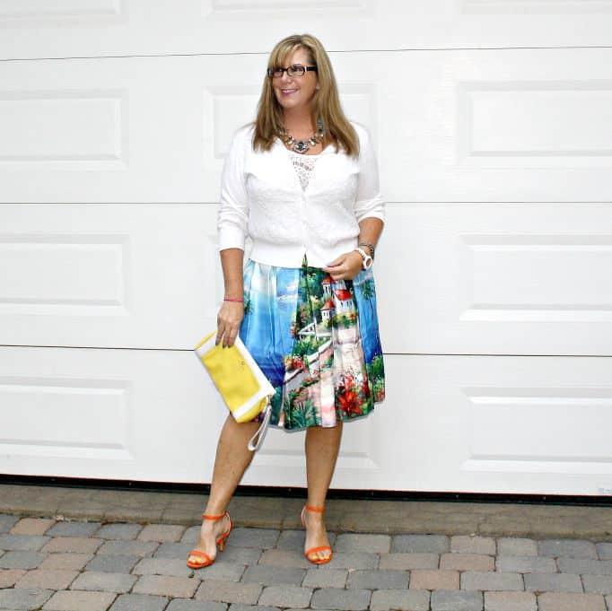 Shein Seascape Skirt
