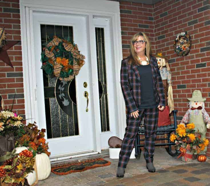 Fall Plaid Pant Suit from target
