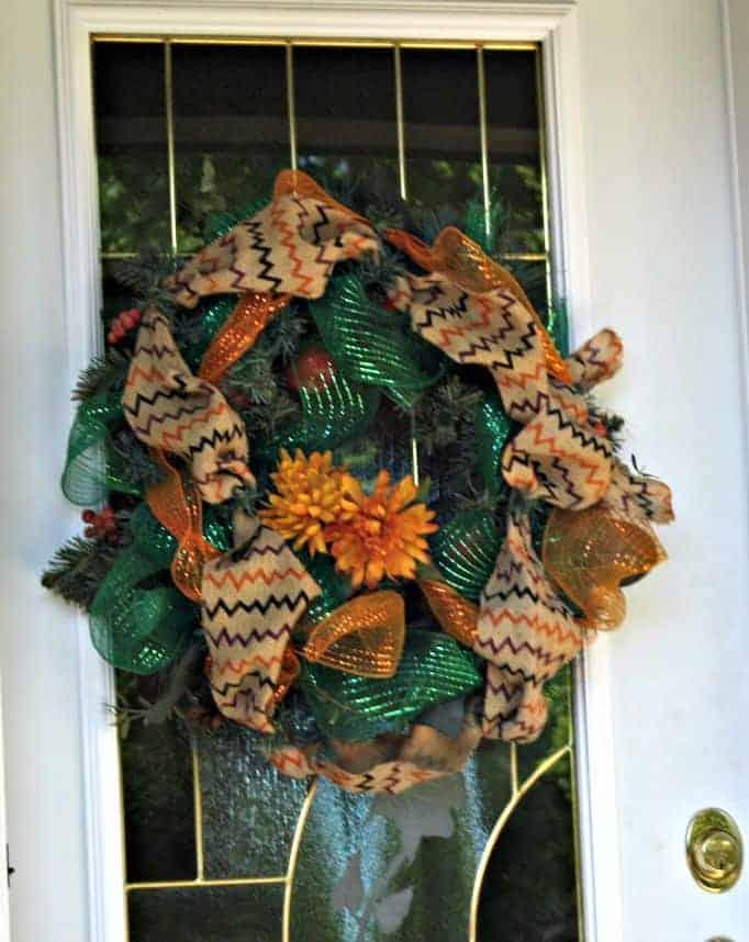fall wreath with chevron