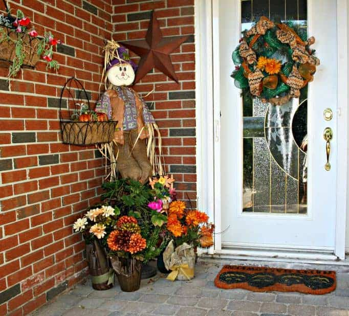 folliage at the front door for fall