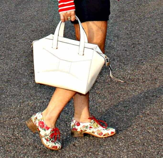 Kate Spade Beau bag and floral oxfords