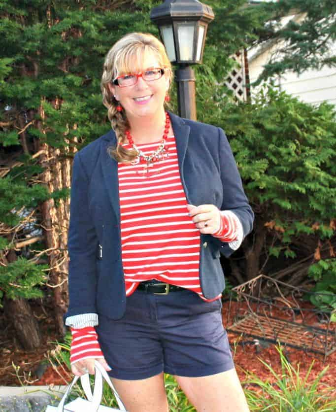 Old Navy red striped shirt
