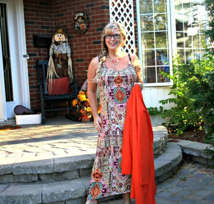 Target sundress with tribal tones