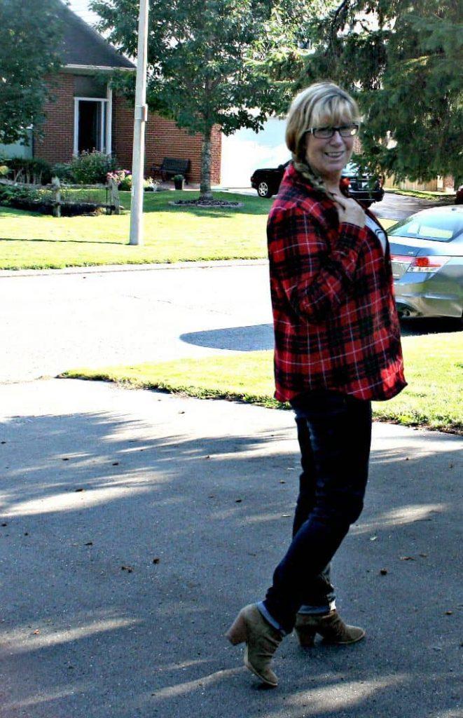 haggar dream jeans and a buffalo plaid shirt