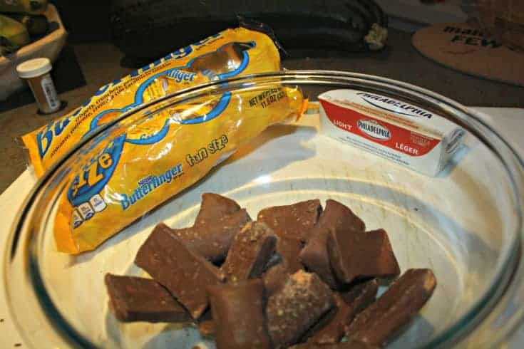 kraft cream cheese and butterfingers