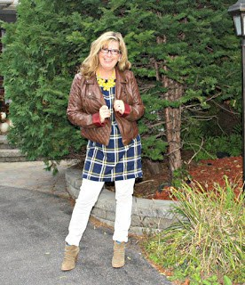 Rue 21 Leather and an Old Navy Plaid Dress