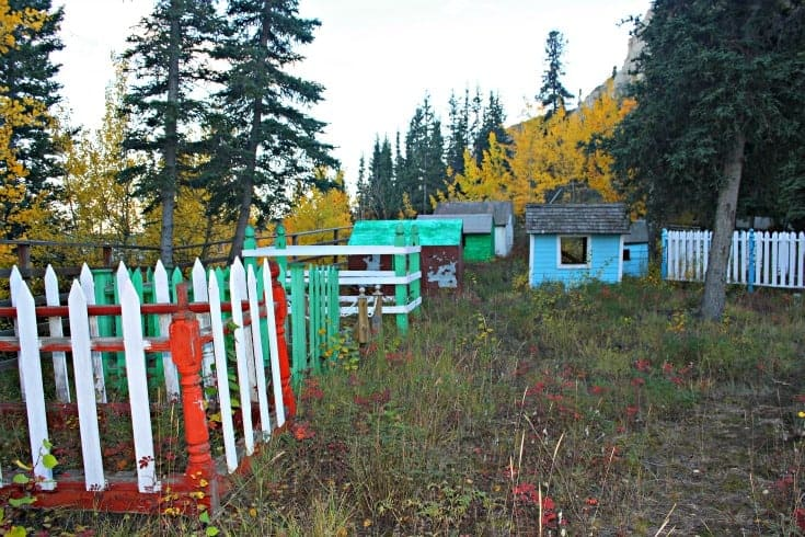 Whitehorse Kwanlin Dun First Nations cemetery spirit houses