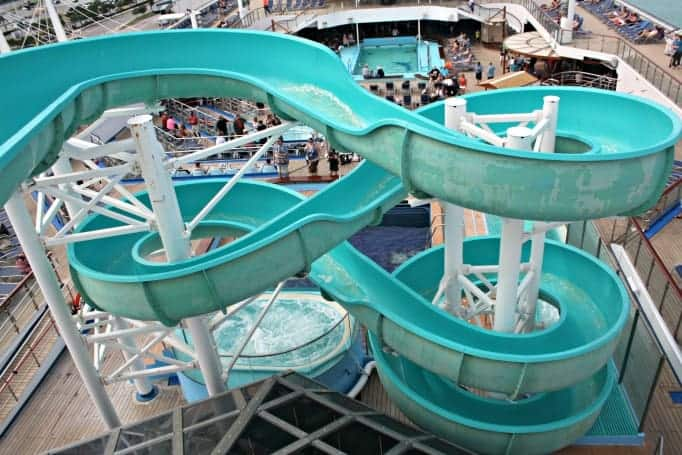 waterslide on the Carnival Glory