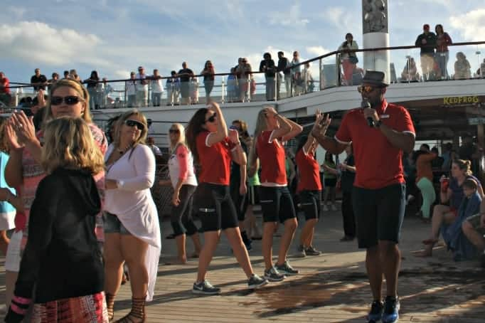 dancing on the Carnival Glory