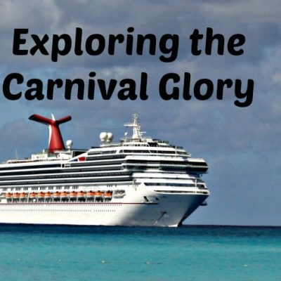Carnival Glory and a trip around the deck