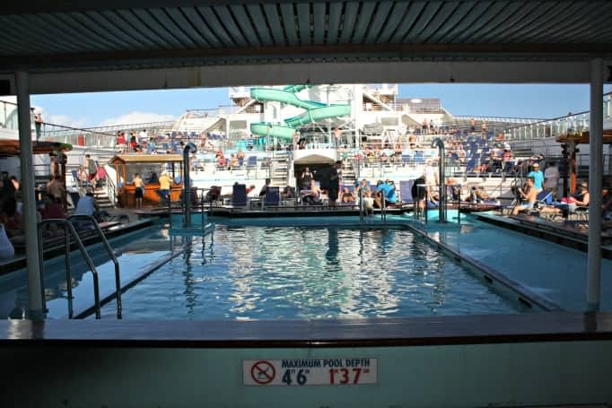pool deck on the Carnival Glory