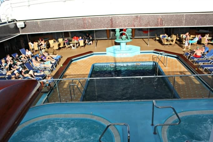 adult pool and hot tubs on the Carnival Glory