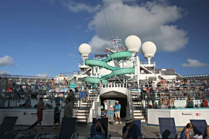 view of the slide on the Carnival Glory