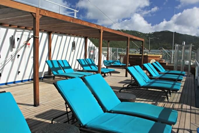 Serenity Area on the Carnival Glory