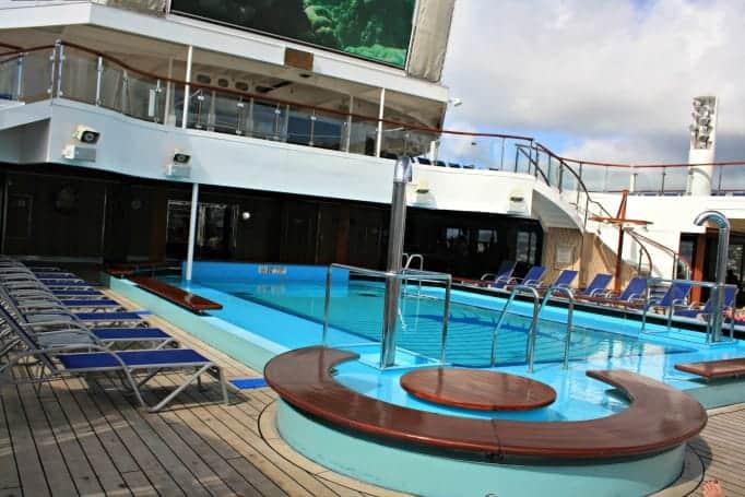 main pool area on Carnival Glory