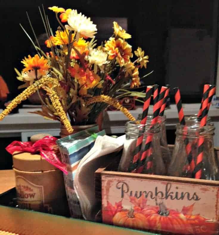 pumpkins and straws