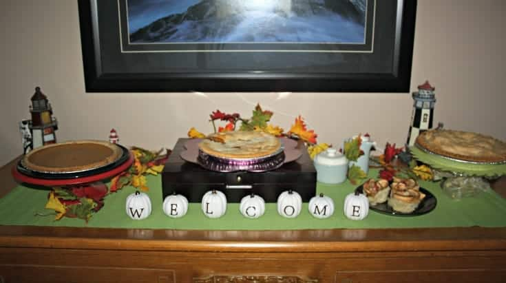 thanksgiving desserts, sugar pie, apple pie and pumpkin pie