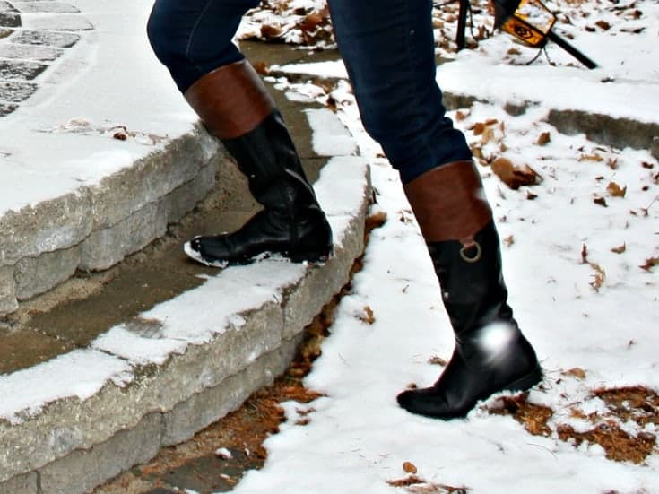target brown and black riding boots
