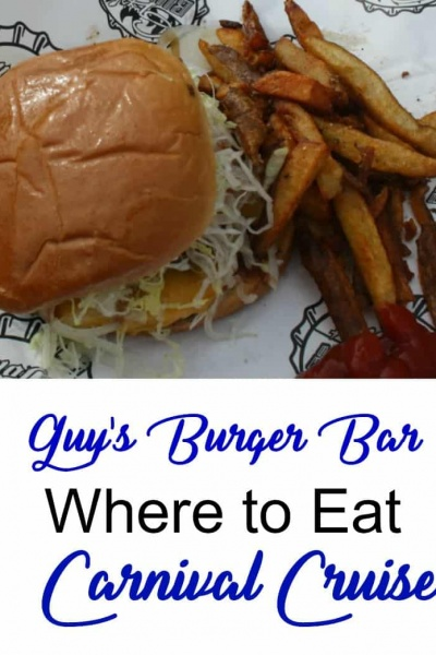 Exploring Carnival Cruises: Guy Burger Joint, Reds Rum and the Blue Iguana Tequila Bar