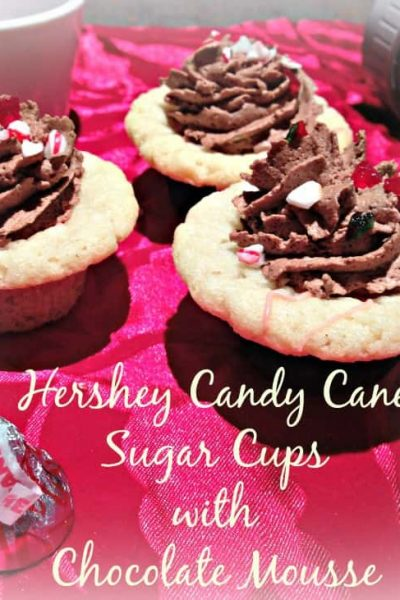 Hershey Candy Cane Sugar Cups with Chocolate Mousse