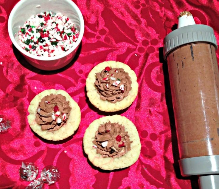 Candy Can Sugar Cookie Cups with Chocolate Mousse