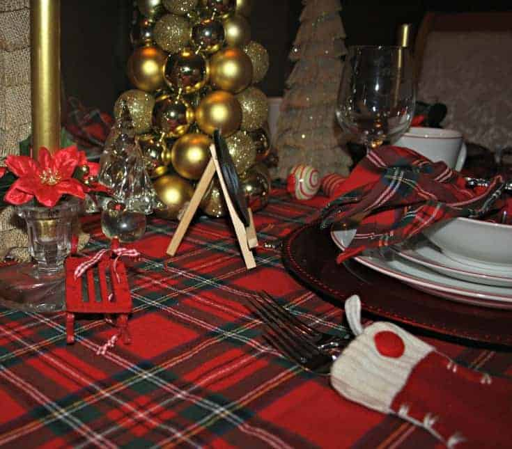 Christmas Tablescapes in plaid 2