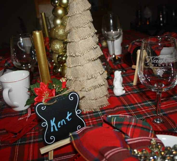 Christmas Tablescapes in plaid 3
