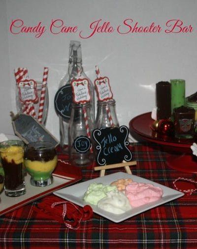 Candy Cane Jello Shooter Bar #Sweetentheseason