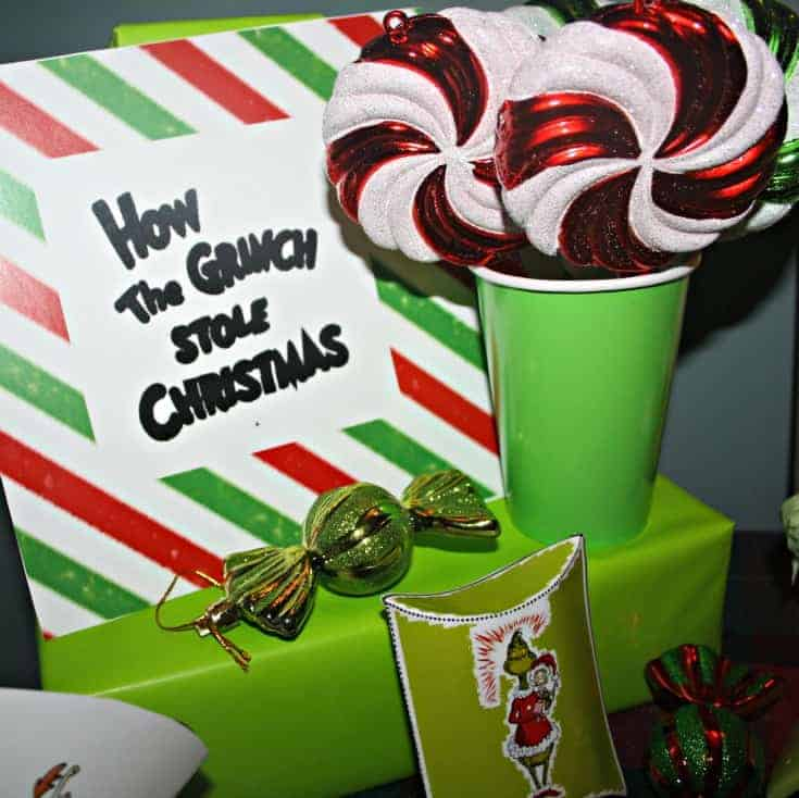 Whoville Christmas Party with grinch favours