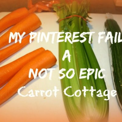 Carrot Cabin Pinterest Fail and how you recover