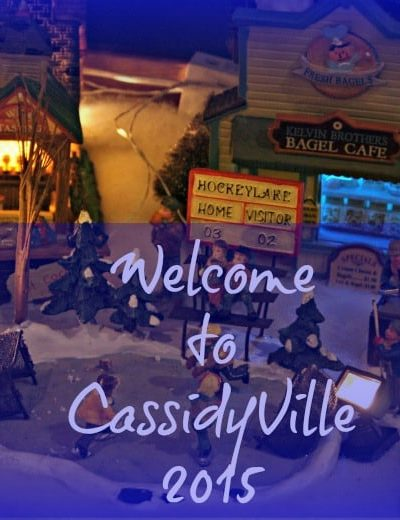 CassidyVille with my Lemax Village