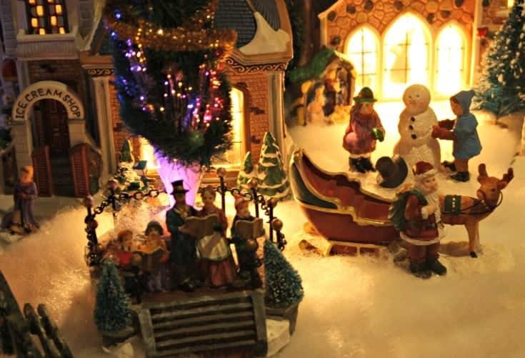 Santa and my Christmas Village