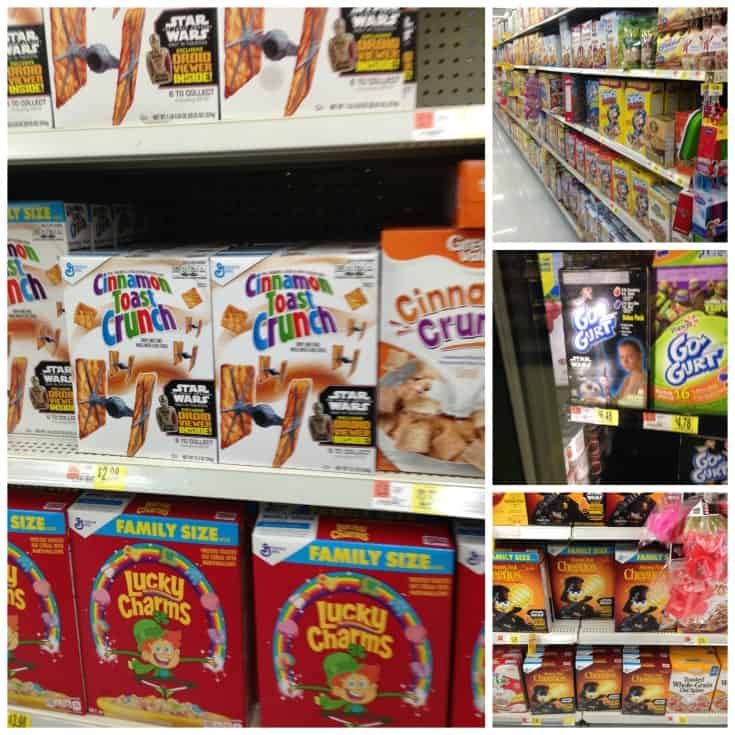 star wars themed cereals at Walmart