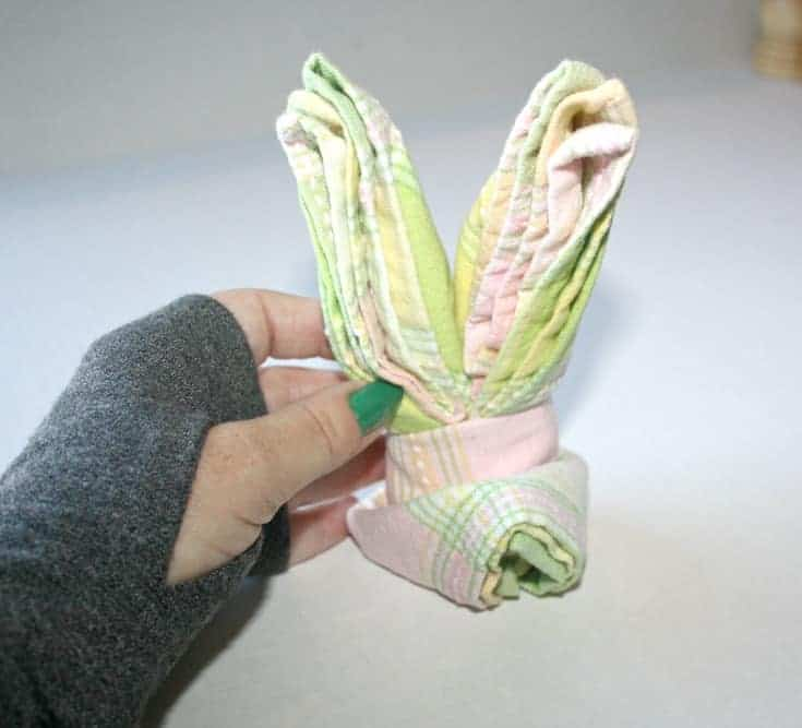 creating Bunny Napkins for Easter