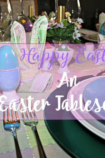Easter Pastel Tablescape