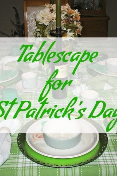 Tablescape for St Patrick's Day