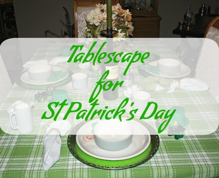St Patrick's tablescape