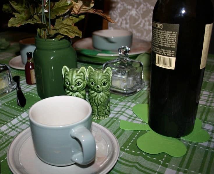 St Patrick's festive tablescape