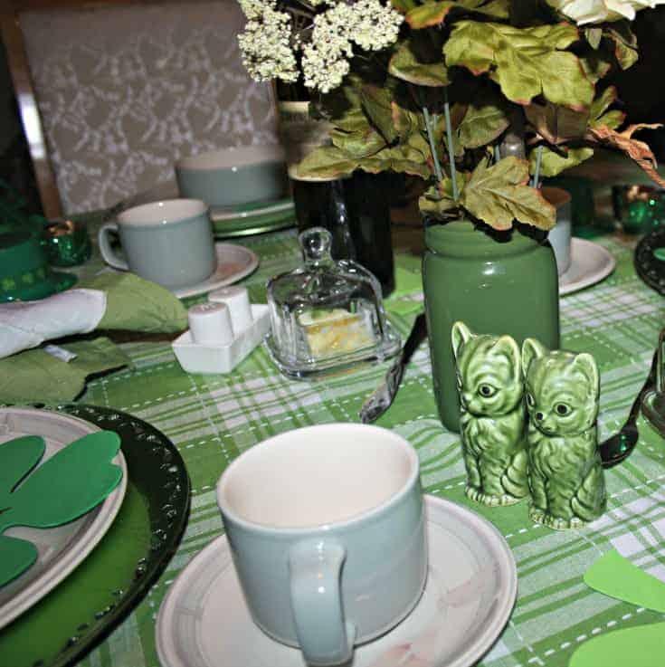St Patrick's festive tablescape 1