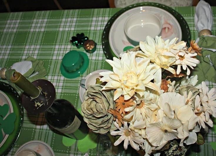 St Patrick's festive tablescape 3