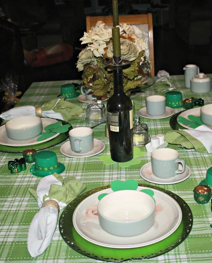 St Patrick's festive tablescape 5