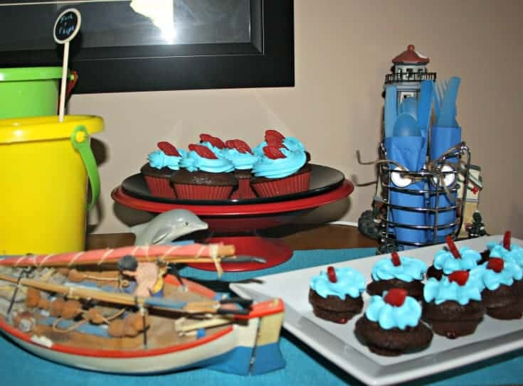 concession bar for Movie night with swedish fish #fishandflicks #dataandamovie