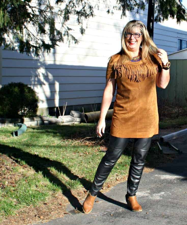 Sweater-Joe Fresh (Similar), Tunic-Forever 21 Leggings-H&M Booties-F21 Necklace-Lookbook Watch C/O Jord